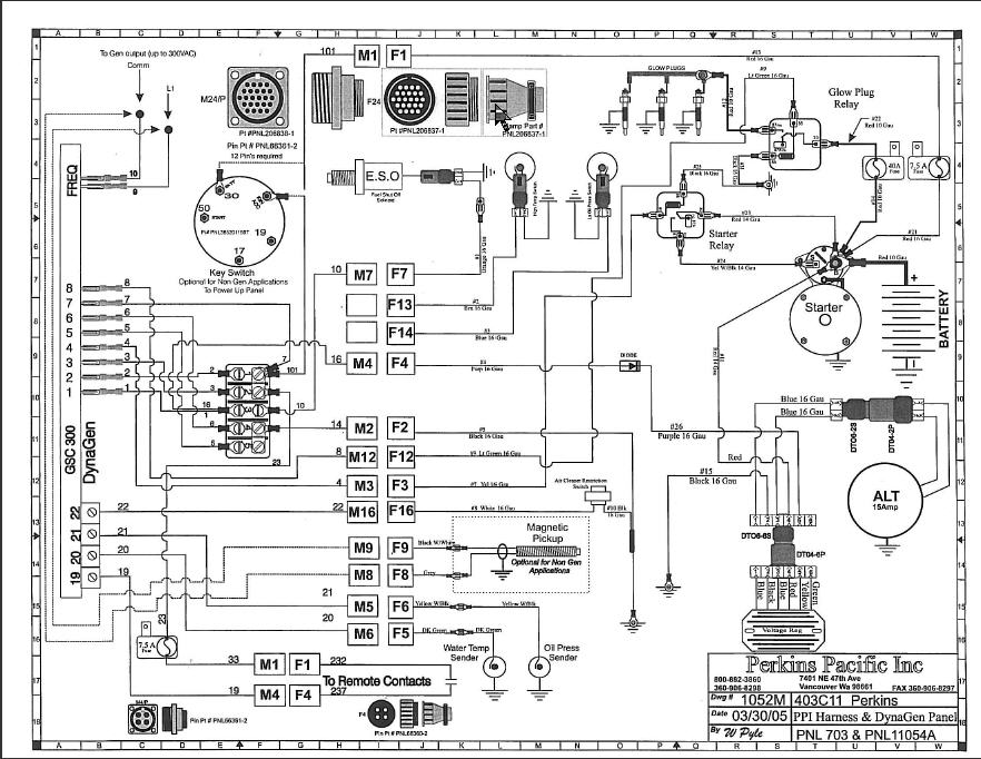 Perkins Diesel Engine Wiring