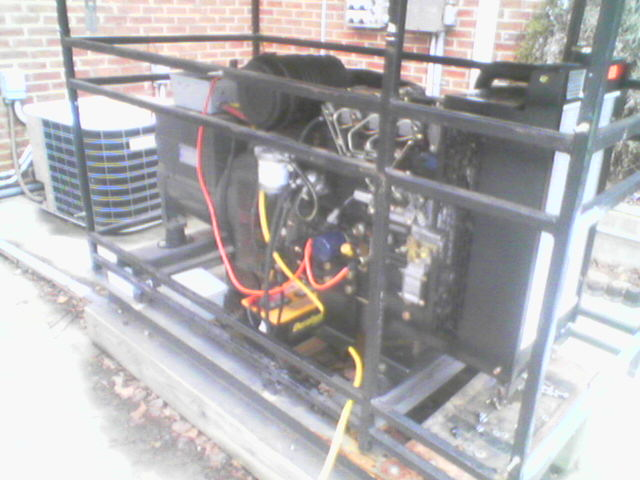 Below is a picture of the overall engine generator system with the