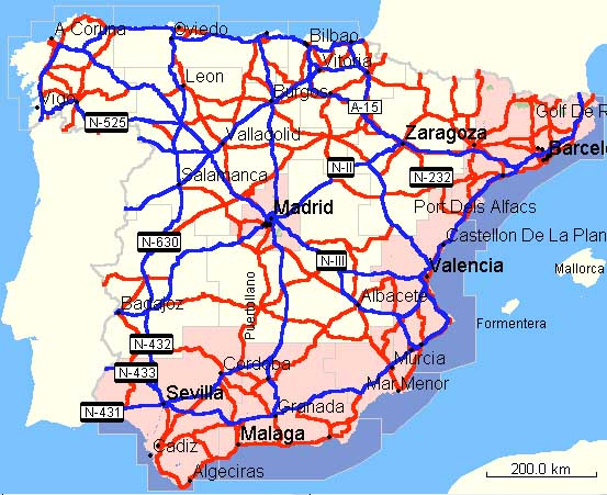 Coast Of Spain Map.Garmin Metroguide Map Of Spain Review